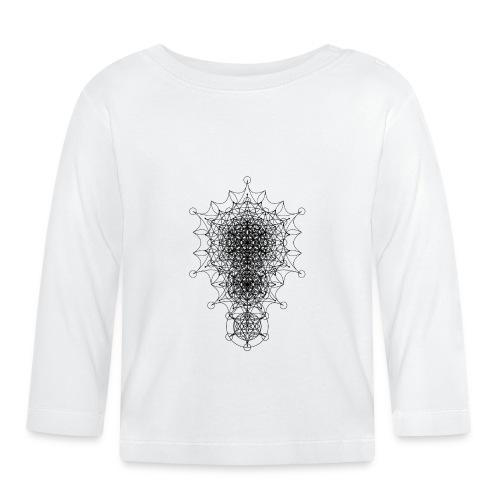 Sacred Geometry Dimensional Star Black - Baby Long Sleeve T-Shirt