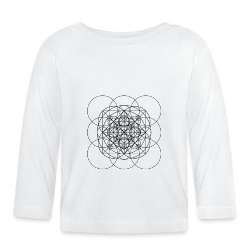 Sacred Geometry Orange Squared Circles Black - Baby Long Sleeve T-Shirt
