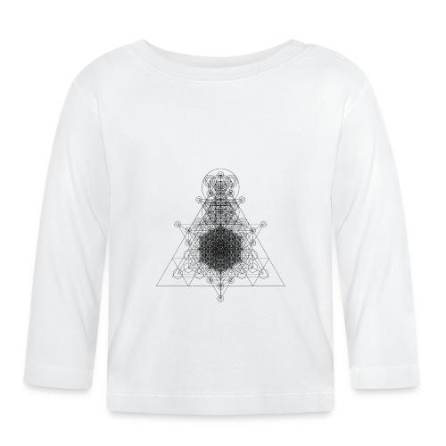 Sacred Geometry Higher Dimension Black - Baby Long Sleeve T-Shirt