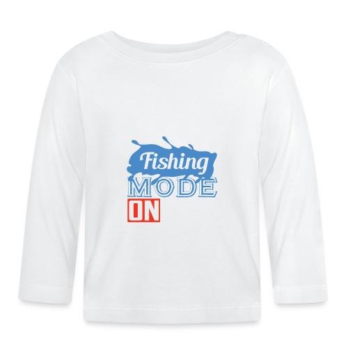 fishing mode on - Baby Langarmshirt