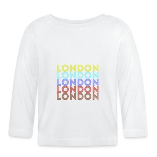Vintage London Souvenir - Retro London - Baby Langarmshirt