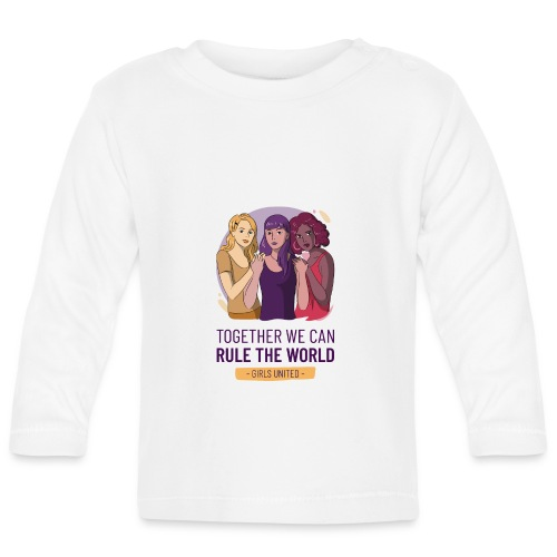 t shirt design generator featuring three women - Camiseta manga larga bebé