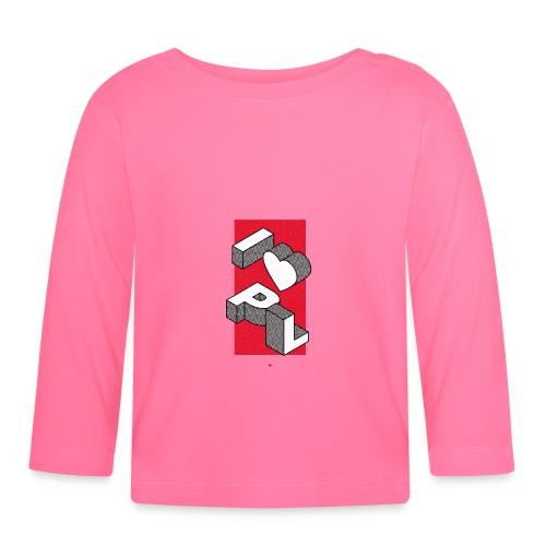 I heart PL I love Poland - Koszulka niemowlęca z długim rękawem