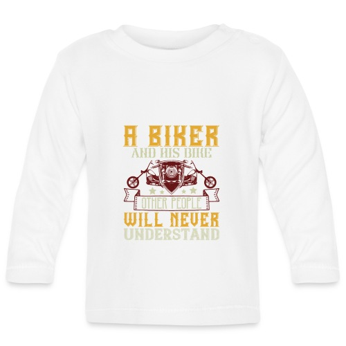 A biker and his bike. - Baby Long Sleeve T-Shirt
