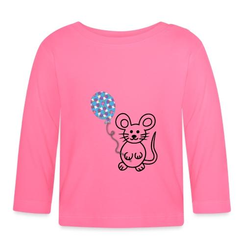 Maus, Luftballon - Baby Langarmshirt