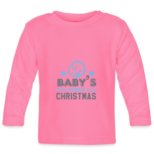 Baby`s First Christmas - Baby Langarmshirt