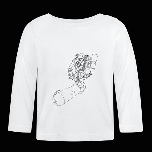 scootertaucher schwarz - Baby Langarmshirt