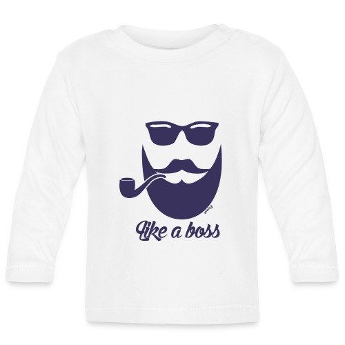 Comme un boss (H) - T-shirt manches longues Bébé
