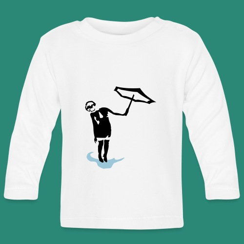 Regenschirmfrau - Baby Langarmshirt