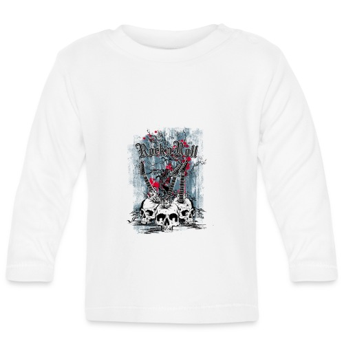 rock n roll skulls - T-shirt