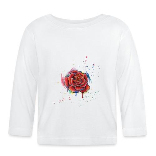 Rose Watercolors Nadia Luongo - Maglietta a manica lunga per bambini