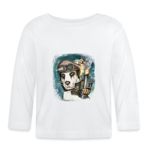Steampunk Dog #2b - Maglietta a manica lunga per bambini
