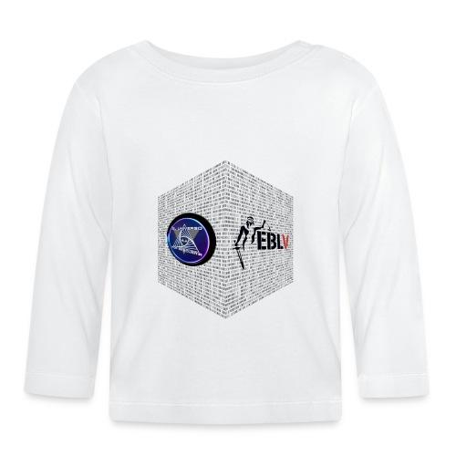 disen o dos canales cubo binario logos delante - Baby Long Sleeve T-Shirt
