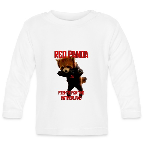Red Panda Fights For The Motherland - Baby Long Sleeve T-Shirt
