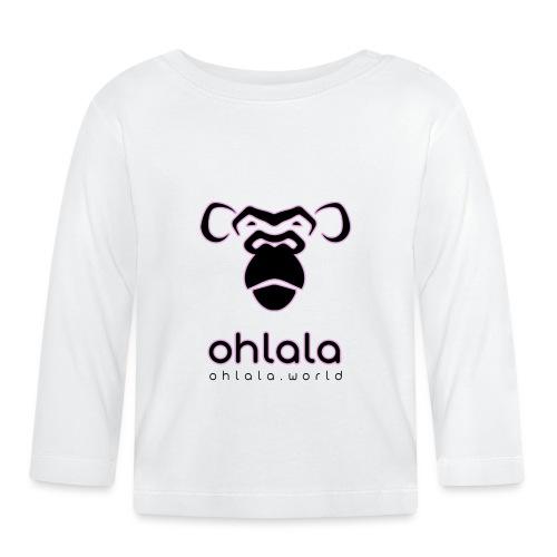 Ohlala Black & Pink - T-shirt manches longues Bébé