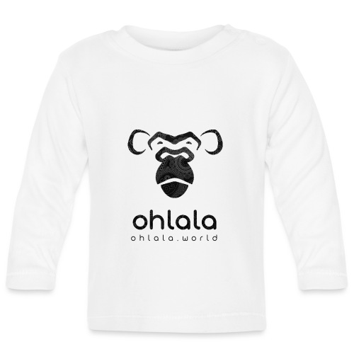 Ohlala Retro BLACK - T-shirt manches longues Bébé