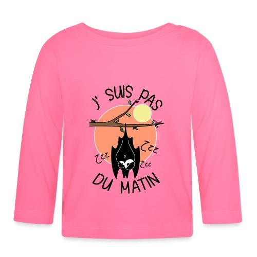Chauve-souris, J' Suis pas du Matin - T-shirt manches longues Bébé