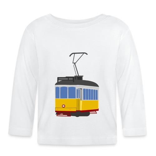 Tram car yellow - Baby Long Sleeve T-Shirt