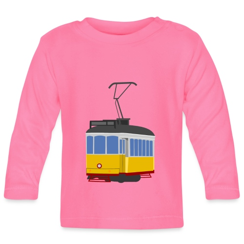 Tram car yellow - Baby Long Sleeve T-Shirt