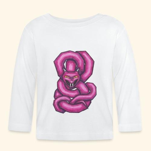 Kantig orm - Långärmad T-shirt baby