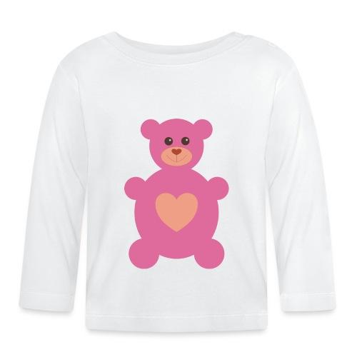 Bärchen rosa - Baby Langarmshirt