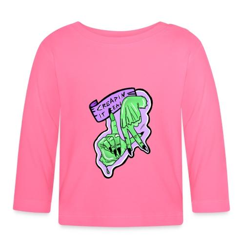 Creapin it real green witch halloween - Koszulka niemowlęca z długim rękawem