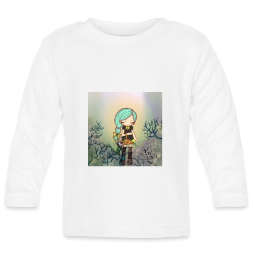 Little forest girl blue hair - Baby Long Sleeve T-Shirt