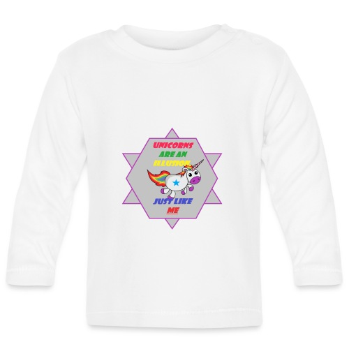 Unicorn with joke - Baby Long Sleeve T-Shirt