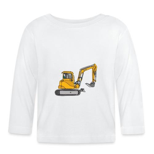 Gelber Bagger - Baby Langarmshirt