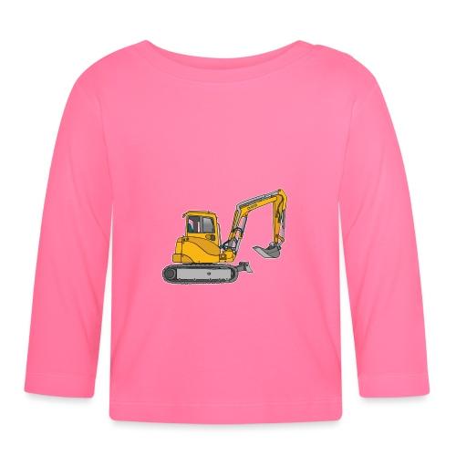 BAGGER, gelbe Baumaschine mit Schaufel und Ketten - Baby Langarmshirt