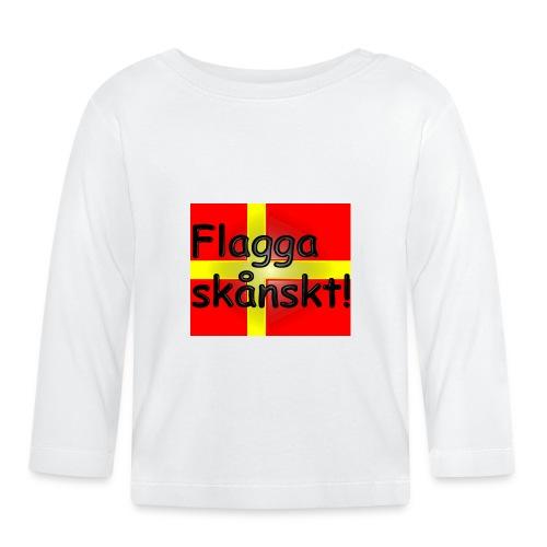 Flagga skånskt! - Långärmad T-shirt baby