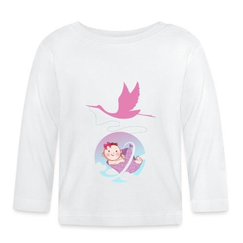 Umstandsmode T-Shirt Motiv / Geschenk Babyparty - Baby Langarmshirt