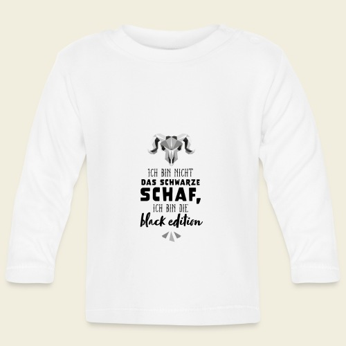 Schwarzes Schaf - white edition - Baby Langarmshirt