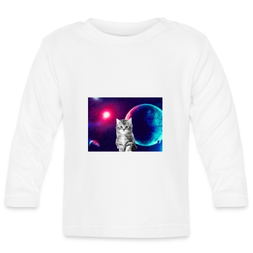 Cute cat in space - Vauvan pitkähihainen paita