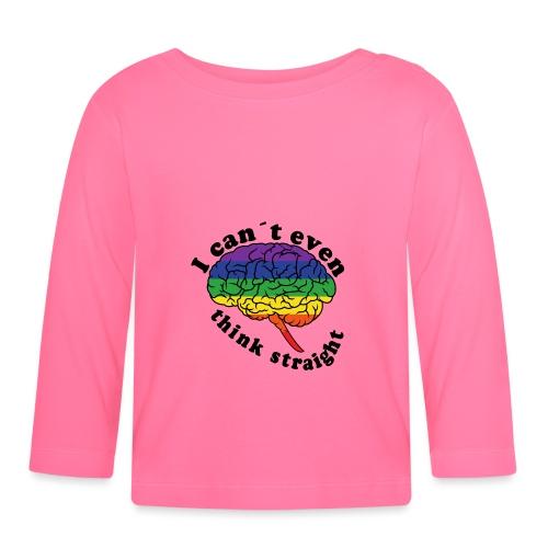 Ich kann nicht einmal klar denken | LGBT - Baby Langarmshirt