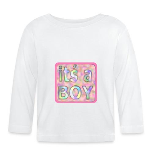 its a boy rosa text skylt - Baby Long Sleeve T-Shirt