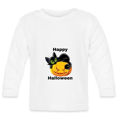 Happy Halloween cat - Baby Long Sleeve T-Shirt