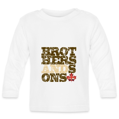 Brothers and Sons logo - dark design - Baby Long Sleeve T-Shirt