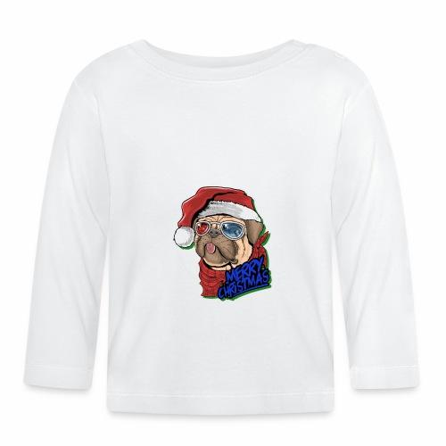 dog NAVIDAD - T-shirt manches longues Bébé