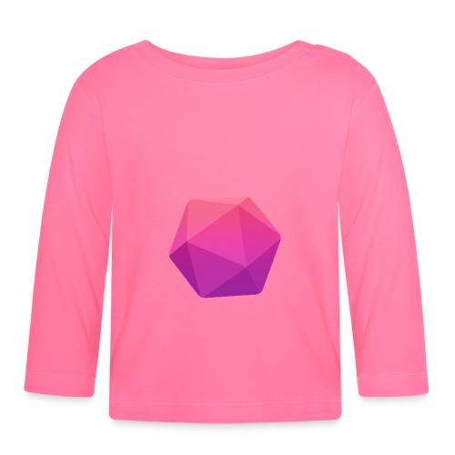 Pink D20 - D&D Dungeons and dragons dnd - Vauvan pitkähihainen paita