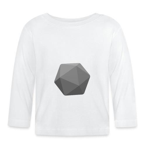 Grey d20 - D&D Dungeons and dragons dnd - T-shirt manches longues Bébé