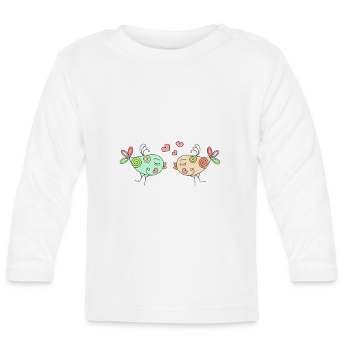 colourful birds in love - Baby Long Sleeve T-Shirt