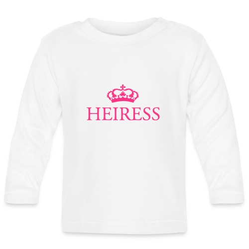 Gin O'Clock Heiress Baby Vest - Gold Print - Baby Long Sleeve T-Shirt