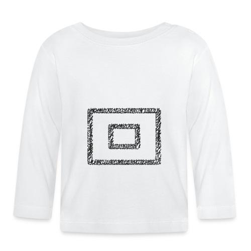 Wegzeichen  10 Min. warten - Stift - Schwarz - Baby Langarmshirt