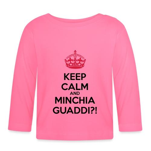 Minchia guaddi Keep Calm - Maglietta a manica lunga per bambini
