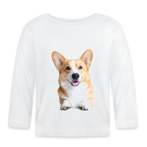 Topi the Corgi - Frontview - Baby Long Sleeve T-Shirt