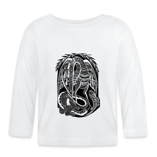 Serpiente y ave africana - Camiseta manga larga bebé