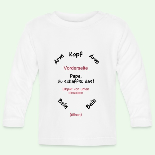 baby body strampler // Papa, Du schaffst das! - Baby Langarmshirt