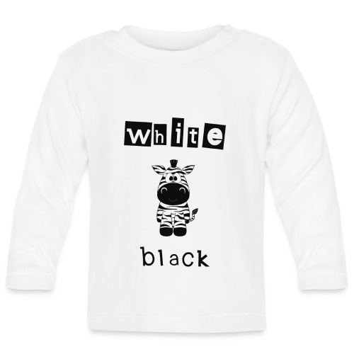 Zebra black or white - Baby Langarmshirt