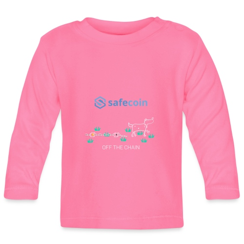 Dogey Chainfree White + blue - Baby Long Sleeve T-Shirt